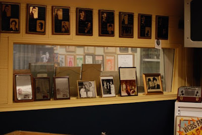 Window between the main recording room and the control room in the Norman Petty Recording Studio, Clovis, New Mexico<br />