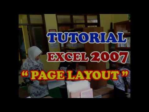 """Cara mengatur """"page layout"""" atau ukuran kertas pada Ms. Excel 2007"""