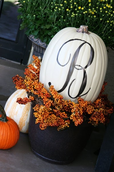 Monogramed Pumpkin!.