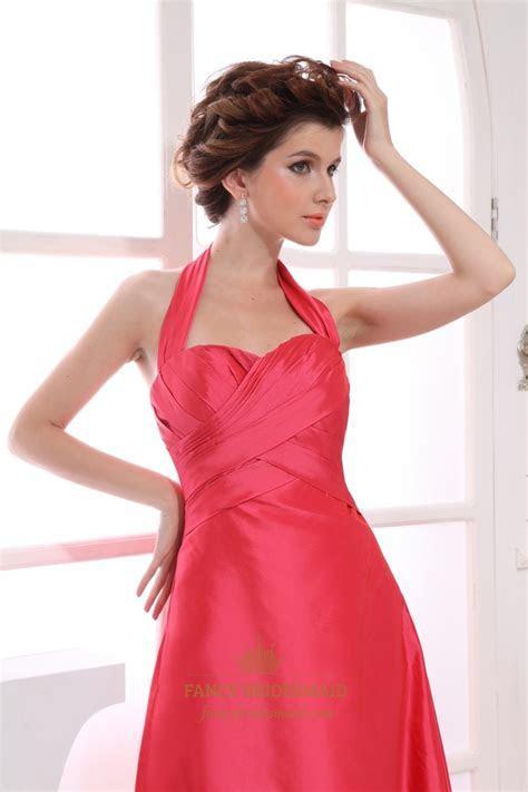 Long Halter Bridesmaid Dresses, Halter Empire Waist