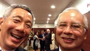 Selfie - PM Lee with PM Najib Razak