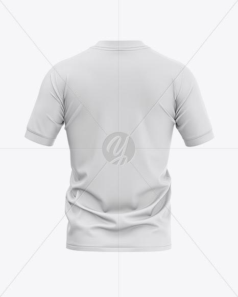 Download Download Men's Soccer Henley Collar Jersey Mockup - Back ...