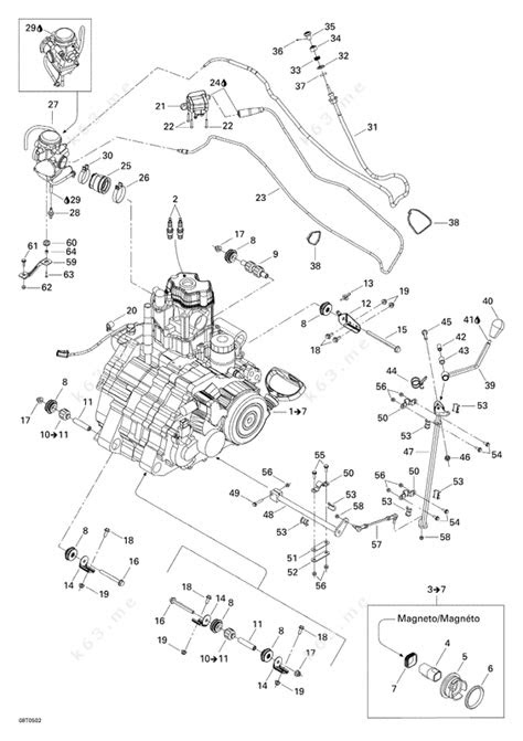 Bombardier 2005 Traxter - XT, Engine Support - parts catalog