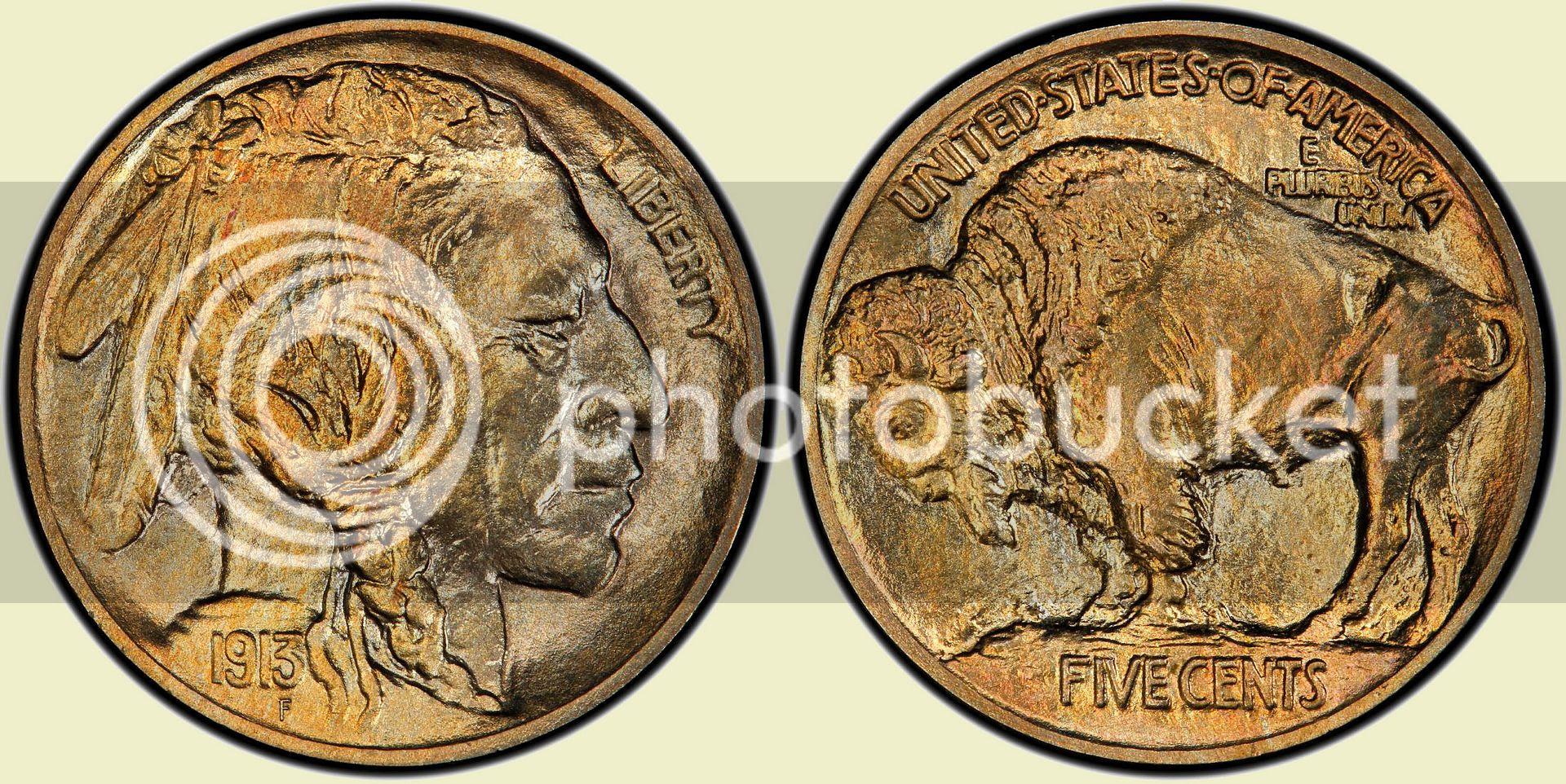 1913 Type 1 Indian Head nickel
