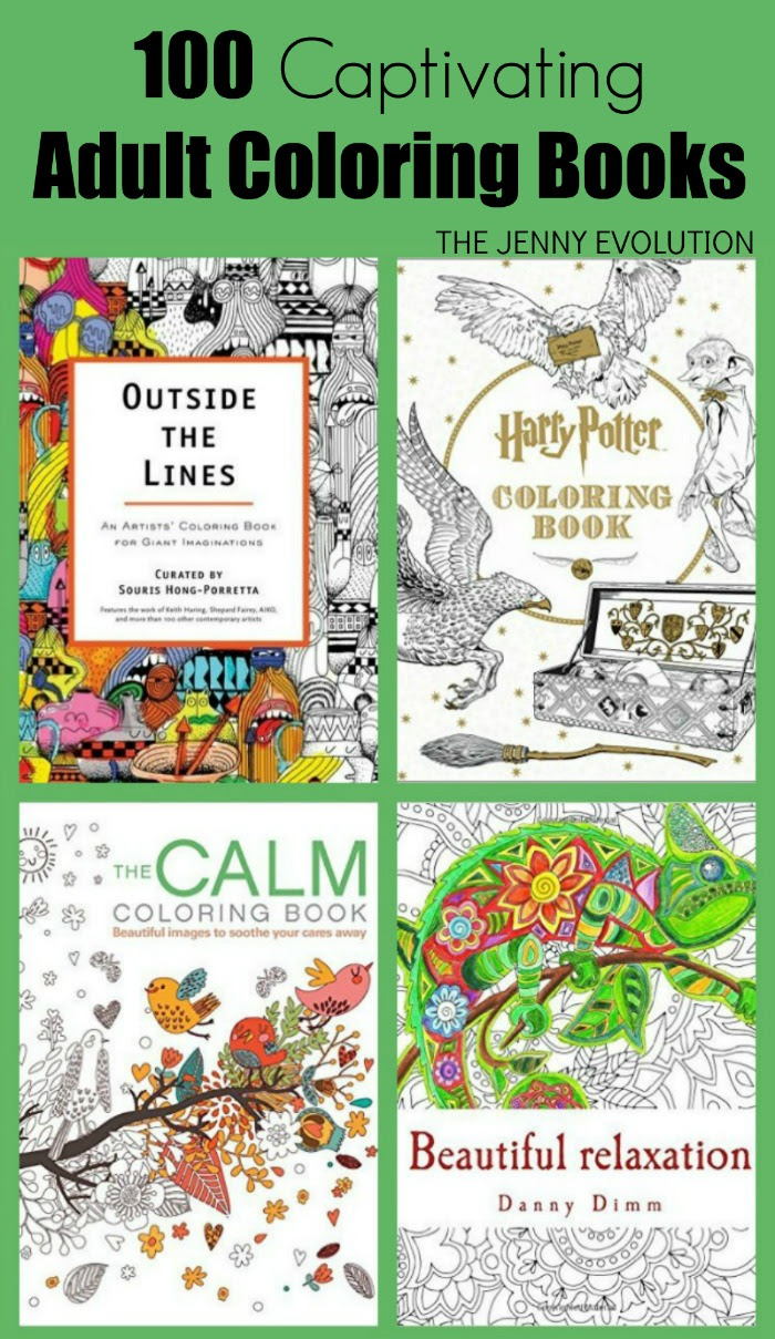 100 Adult Coloring Book Ideas! | The Jenny Evolution