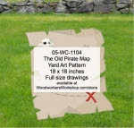 The Old Pirate Map Yard Art Woodworking Pattern - fee plans from WoodworkersWorkshop® Online Store - pirates,childrens,kids,treasure maps,childs,buchaneers,Halloween,yard art,painting wood crafts,jigsawing patterns,drawings,jig sawing plywood,plywoodworking plans,woodworkers projects,workshop bluepri