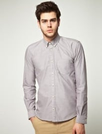 Selected Grey Oxford Shirt