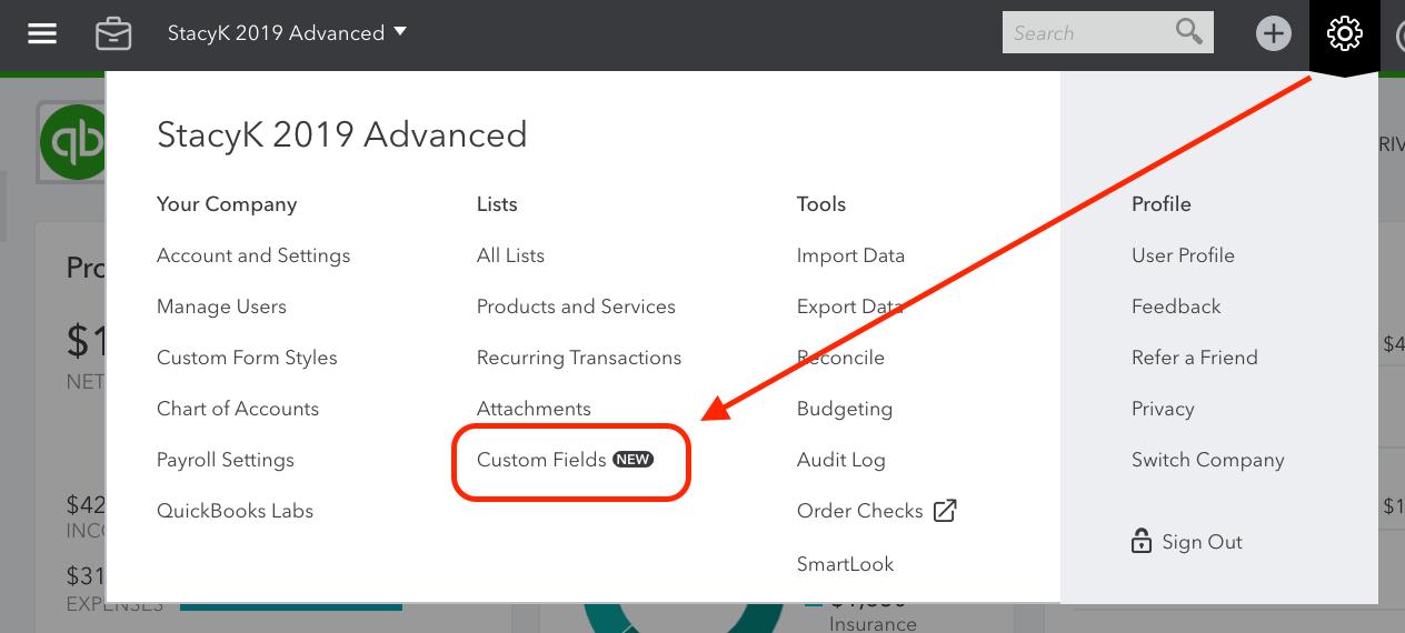 Using Custom Fields in QuickBooks Online Advanced to Track ...