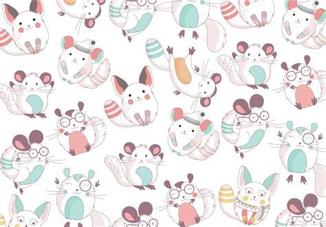 Chinchilla Cute Pattern Vector   Download Free Vector Art, Stock Graphics & Images