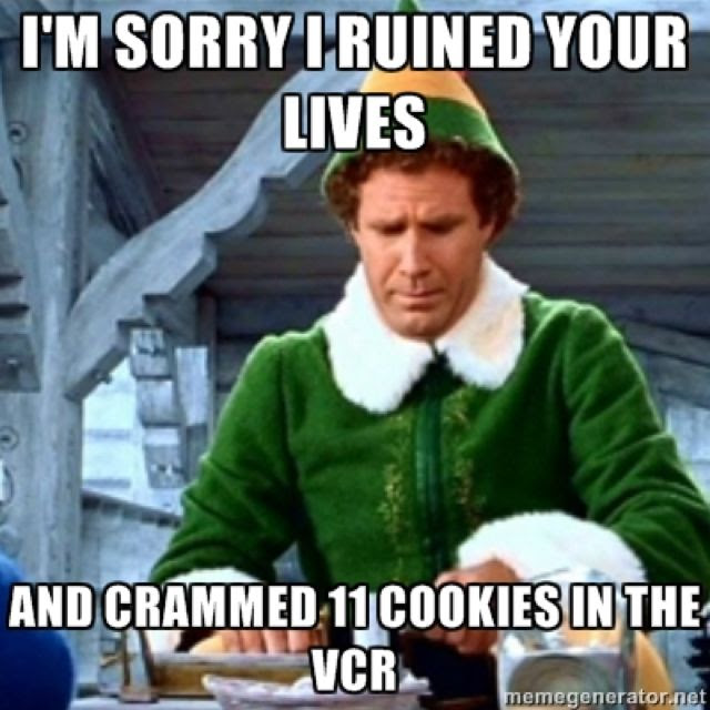 My favorite Christmas quote from the movie Elf. Lol.  Elf