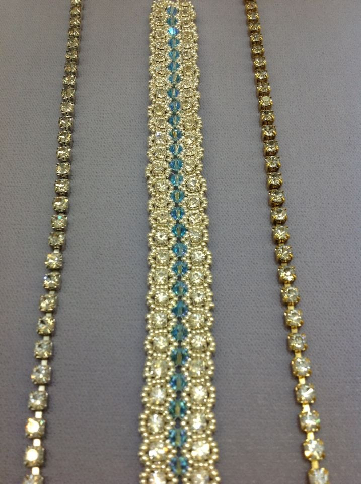 using cup chain and seed beads
