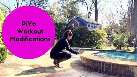 piyo workout modifications youtube