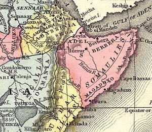 Map of Africa, Samuel Mitchell - 1867, Philade...