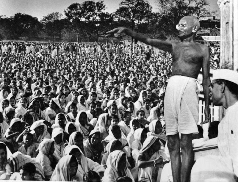 Gandhi in India Picture