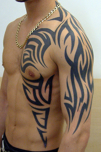 Black Tribal Tattoo Designs For Men On Half Body Tattoomagz