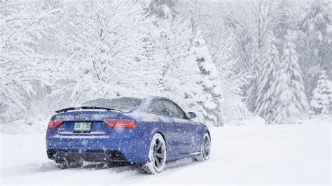 car, Snow, Audi RS5 Wallpapers HD / Desktop and Mobile Backgrounds