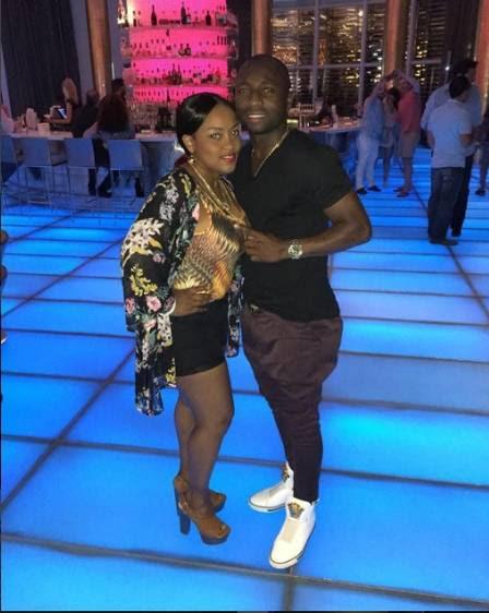 Pablo Armero e a mulher, em Miami