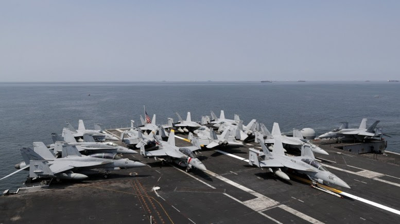 File Photo: F-18 Hornet fighter jets are seen on the flight deck of the US aircraft carrier 'USS Carl Vinson' at the Manila Bay, Philippines. EPA, FRANCIS R. MALASIG