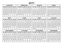 2017 Blank Yearly Calendar Template - Free Printable Templates