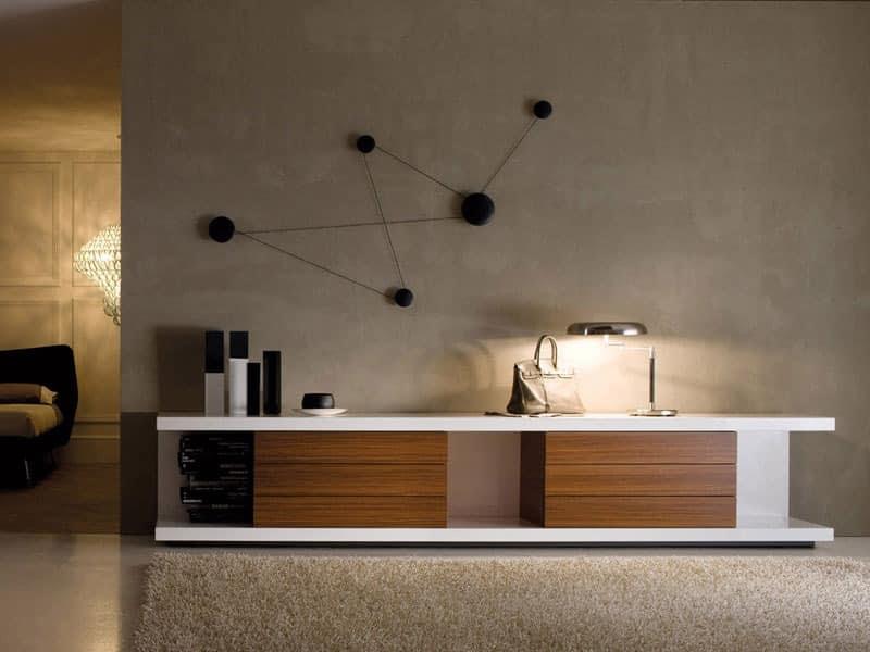 TV-Ständer aus lackiertem, für moderne Wohnzimmer | IDFdesign