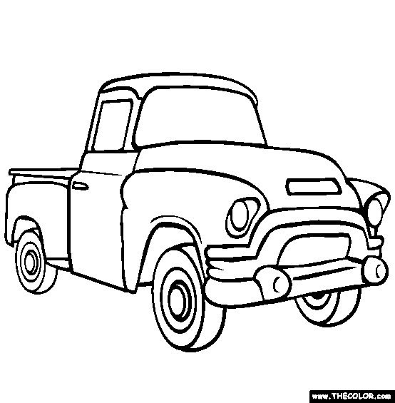 Simple Truck Coloring Pages at GetColorings.com | Free ...