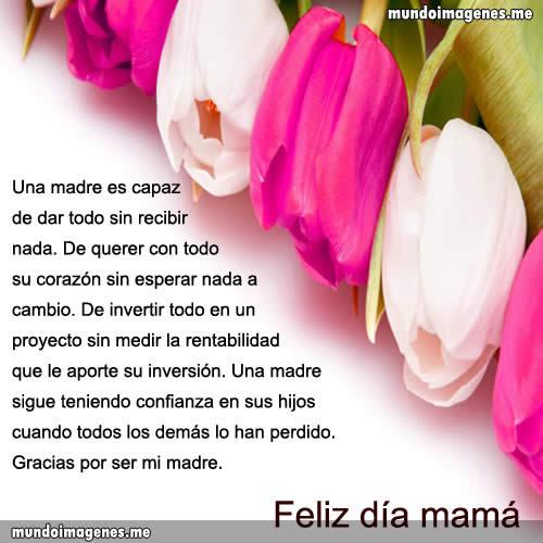Imagenes Para El Dia De La Madre Con Frases Bonitas Mundo Imagenes