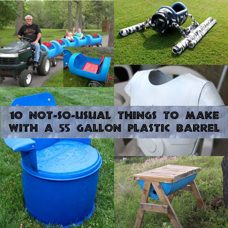 10 Not So Usual Things To Make With 55 Gallon Plastic Barrels Diy