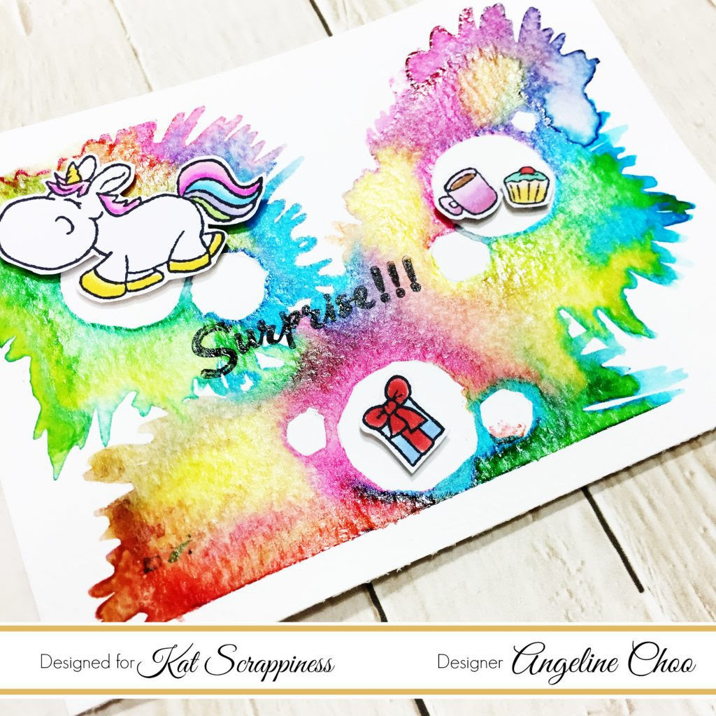ScrappyScrappy: Unicorn Color Burst with Kat Scrappiness #scrappyscrappy #katscrappiness #kenoliver #gerdasteiner #moodyunicorns #liquidmetals #preciousalloys #colorburst #rainbow #ombre #unicorn #card #cardmaking #papercraft #stamp #stamping #scrapbook #scrapbooking #craft #crafting #watercolor #watercolorpainting #copic