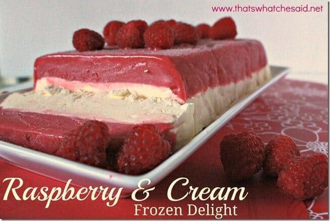 Raspberry and Cream Frozen Delight