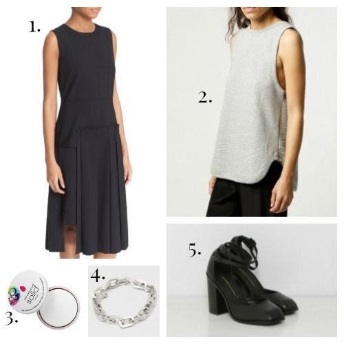 DKNY Dress - Won Hundred Tank Top - Beautyblender Cleanser - Coyote Negro Bracelet - Intentionally Blank Shoes