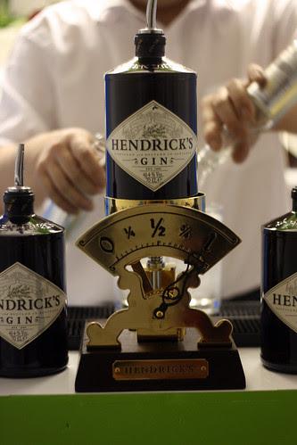 Hendricks scales barman