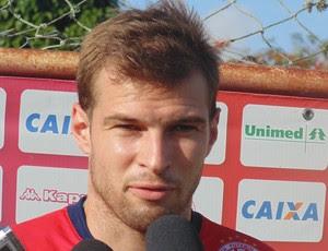 Busatto - goleiro do América-RN (Foto: Carlos Arthur da Cruz/GloboEsporte.com)