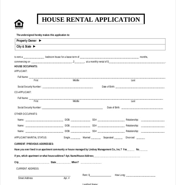 38  pdf  sample application form for house rental