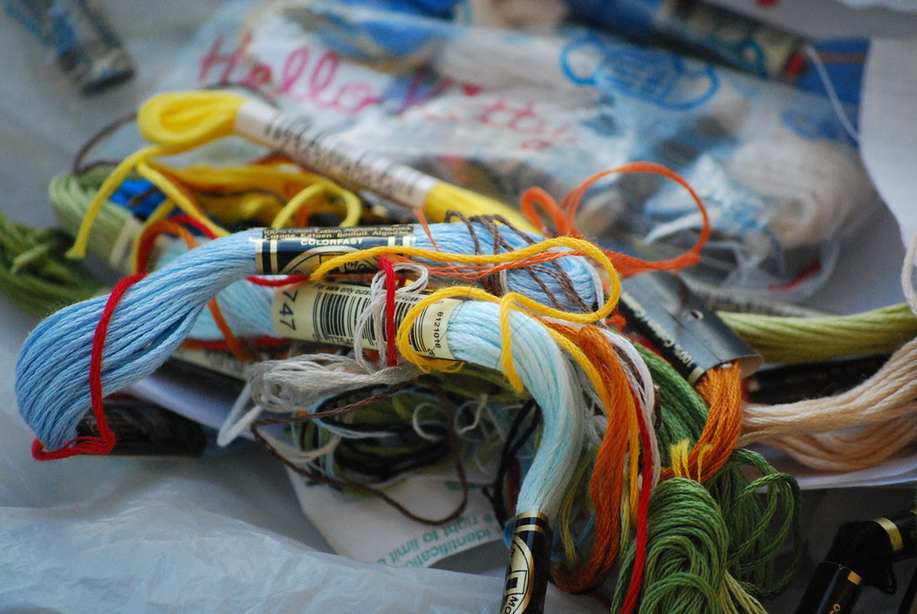 embroidery floss...