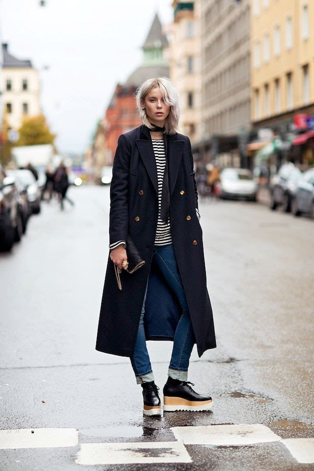 Le Fashion Blog -- Stockholm Sweden Street Style: Military Coat, Striped Tee, Cuffed Jeans & Stella McCartney Platform Oxfords -- Via Stockholm Streetstyle photo Le-Fashion-Blog-Stockholm-Sweden-Street-Style-Military-Coat-Striped-Tee-Cuffed-Jeans-Stella-McCartney-Platform-Oxfords.jpg