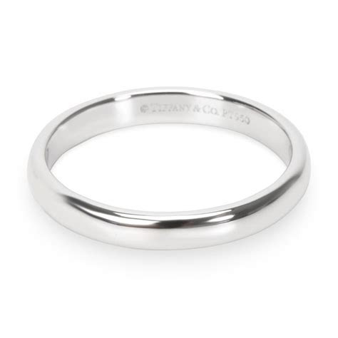 Tiffany & Co. Platinum Lucida 3mm Wedding Engagement