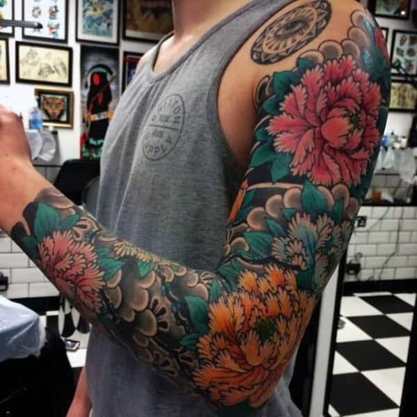 50 Japanese Flower Tattoo Designs For Men Floral Ink Ideas