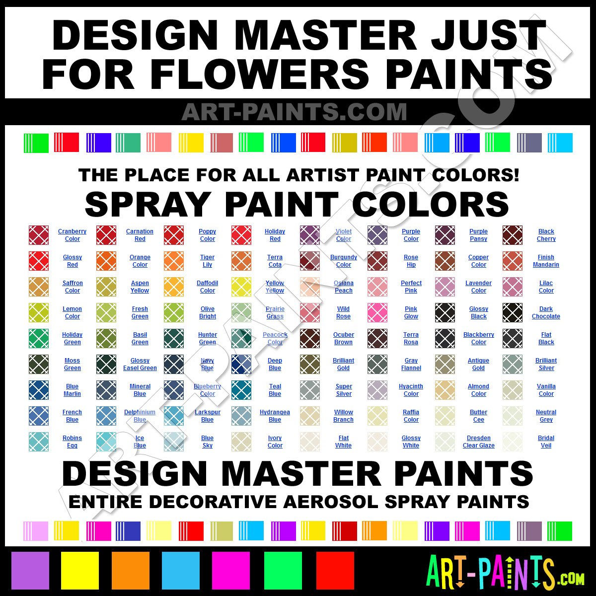 Design Master Just For Flowers Spray Paint Aerosol Colors Design