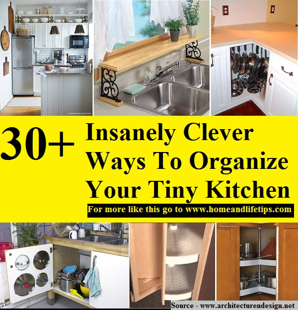 30+ Insanely Clever Ways To Organize Your Tiny Kitchen ...