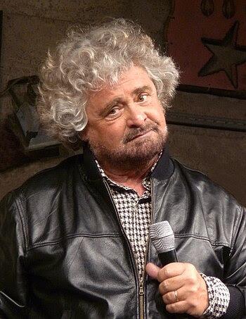 English: Beppe Grillo, Italian comedian, activ...
