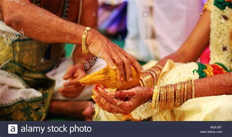 Indian Wedding Ceremony Bangle Stock Photos & Indian