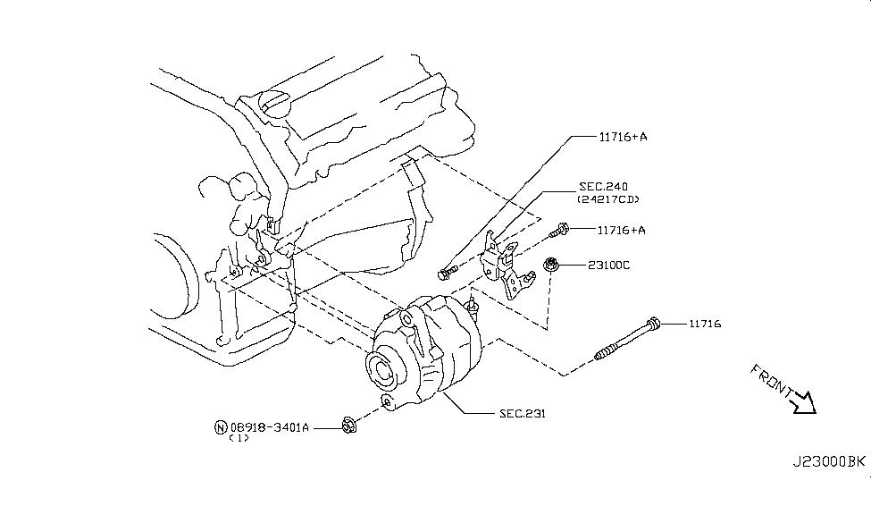2003 nissan murano alternator