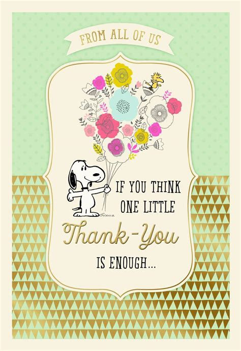 Peanuts® Administrative Professionals Day Thank You Card