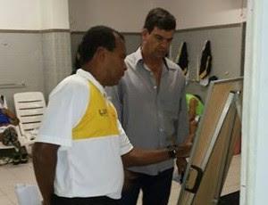 Zé do Carmo auxiliar técnico Moacir Júnior técnico do ABC (Foto: Reprodução/ABC FC)