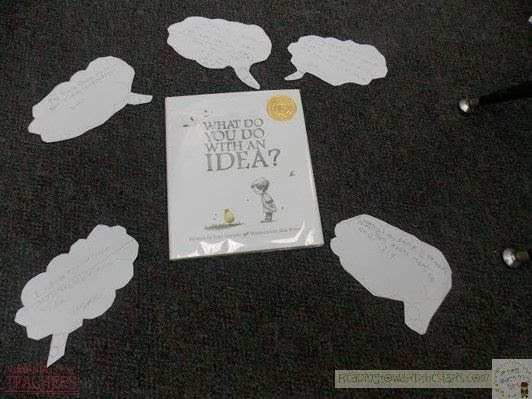 Teaching theme is made easy with the book What Do You Do with an Idea? It is perfect for helping students see what is important in the text with great details.