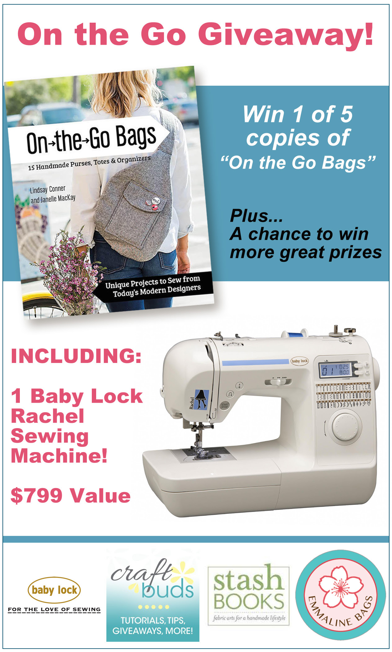 """On the Go Bags"" + Baby Lock Rachel Giveaway!"