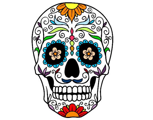 Dibujo De Calavera Mejicana Pintado Por Sersu En Dibujosnet El Día