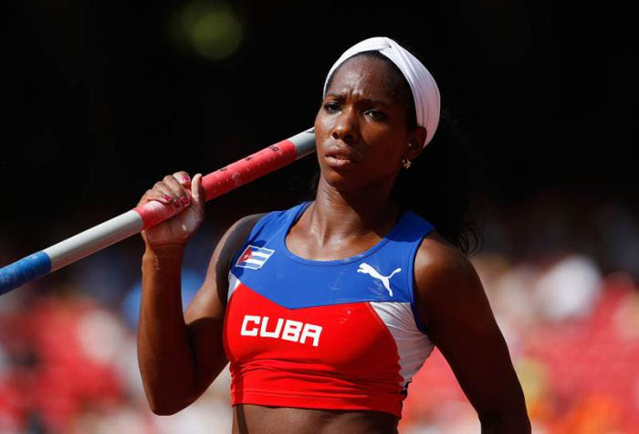 BEIJING, CHINA - AUGUST 24:  Yarisley Silva of Cuba competes in the Women's Pole Vault qualification during day three of the 15th IAAF World Athletics Championships Beijing 2015 at Beijing National Stadium on August 24, 2015 in Beijing, China.  (Photo by Christian Petersen/Getty Images for IAAF) *** Local Caption *** Yarisley Silva