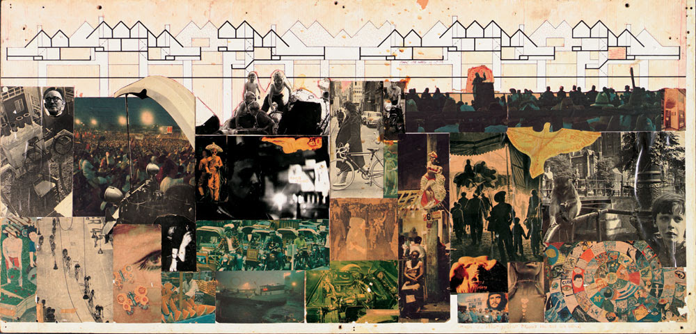 Piet Blom, Dwelling as an urban roof, collage, 1965