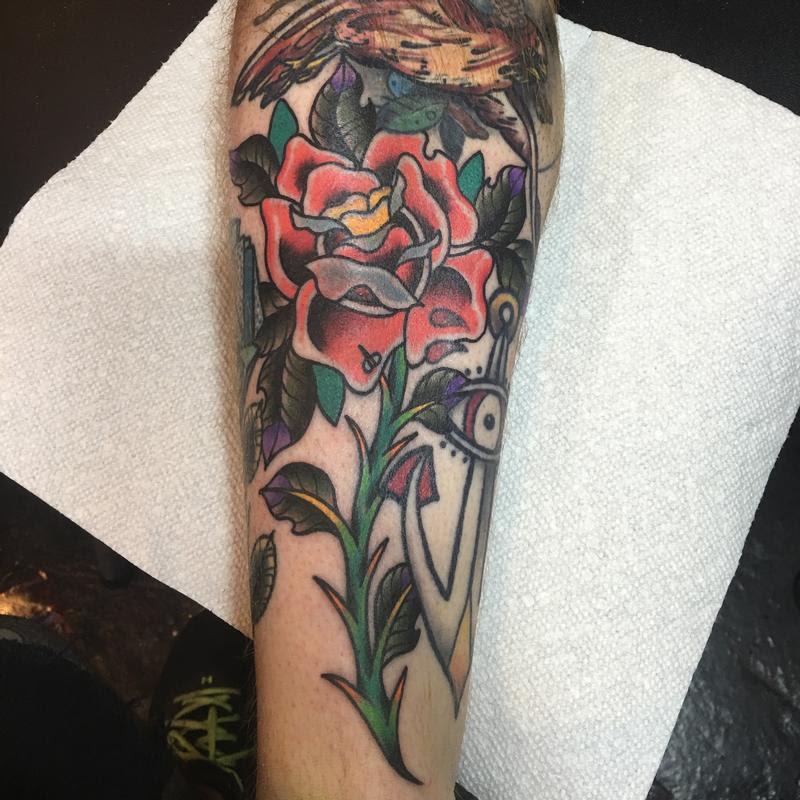 Rebel Muse Tattoo Tattoos Custom Long Stem Red Rose